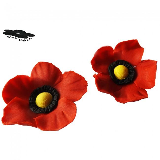 Wholecakestuff red poppy flowers sugar ballsdragees cake sugar ballsdragees red poppy flowers mightylinksfo