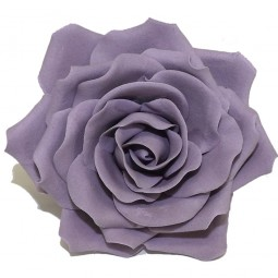 Didelė violetinė rožė su vielute