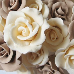 Ivory wired rose