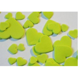 Lime colour multisize hearts