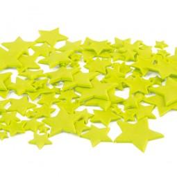 Lime spalvos skirtingo dydžio žvaigždės