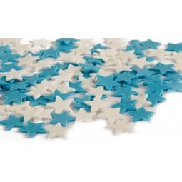 Blue, white stars