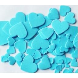 Blue colour multisize hearts