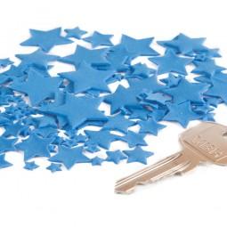 Blue colour multisize stars
