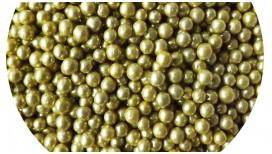 Pabarstukai Aukso spalvos dražė 4mm