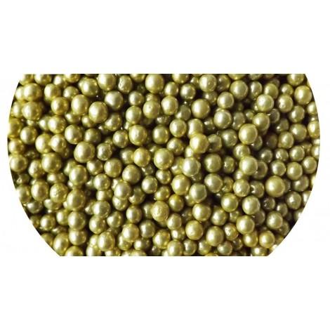 Aukso spalvos dražė 4mm 32gr. Pabarstukai