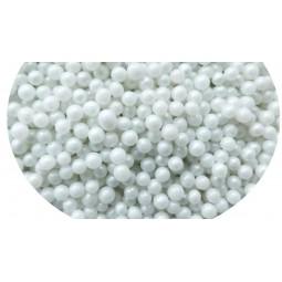 Pabarstukai Perlamutriniai dražė 4mm (White pearly)