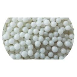 Pabarstukai Shiny white spalvos dražė 4mm