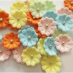 Pastelinių spalvų gėlytės ''Sweet William'' su sidabriniais viduriukais