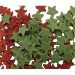 Raudonos, žalios (Kalėdų spalvos) žvaigždutės