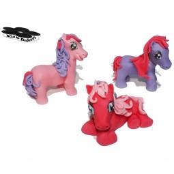 Rožinės spalvos ponis 3D