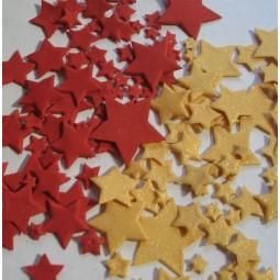 Rubino (Raudonos), blizgančios auksinės spalvos skirtingo dydžio žvaigždės