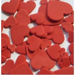 Rubino (Raudonos) spalvos skirtingo dydžio širdys