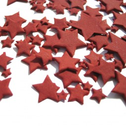 Rubino (Raudonos) spalvos skirtingo dydžio žvaigždės