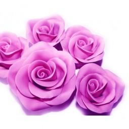 Ryškiai alyvinės spalvos didelė rožė