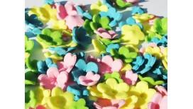 Ryškiai pastelinių spalvų gėlytės