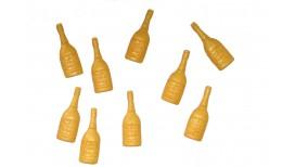 Šampano buteliukai auksinės spalvos