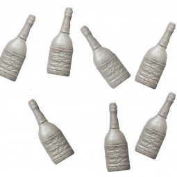 Champagne bottles in silver
