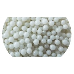 Shiny white sugar dragee 4mm