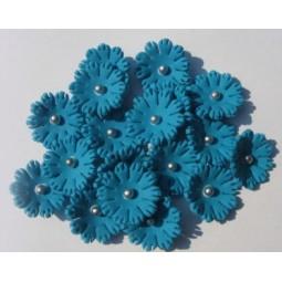 Sodriai mėlynos spalvos gėlytės  ''Sweet William'' su sidabriniais viduriukais