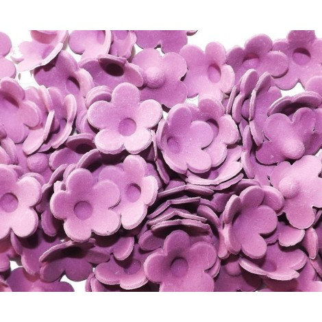 Tamsiai alyvinės spalvos gėlės