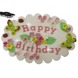 Edible plaque with lettering for any occasion