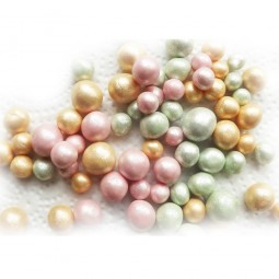 Vintage style gold, green and pink sugar balls
