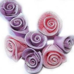 Violetinės spalvos mažos blizgančios rožytės