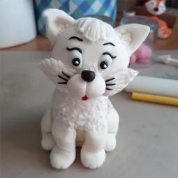 Torto papuošimas baltas Katinėlis