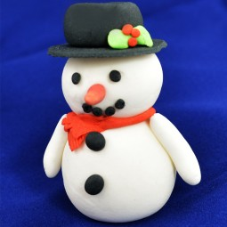 Christmas cake and cupcake decoration snowman