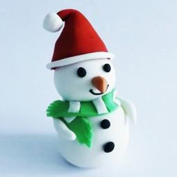 Kalėdinis torto ir keksiukų papuošimas senis besmegenis