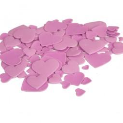 Alyvinės spalvos skirtingo dydžio širdys