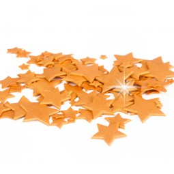 Gold colour multisize stars glittering