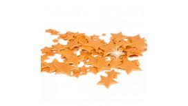Auksinės spalvos skirtingo dydžio žvaigždės blizgančios