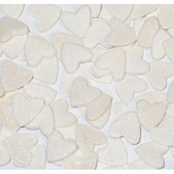 Baltos blizgančios širdelės
