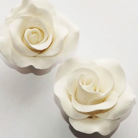 Baltos spalvos rožė su vielute