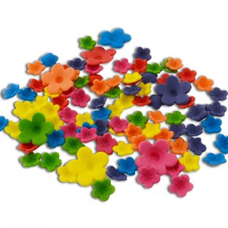 Sugar Decorations - Bright pastel colour blossoms