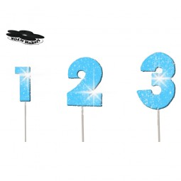 Wired Blue colour glittering number
