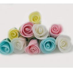 Torto ar keksiukų papuošimui Įvairių spalvų rožytės