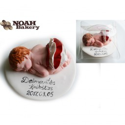 Cake Topper - lying baby (clothes, hair color of choice)