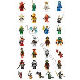 Cukrinio Valgomo Popieriaus Dekoracijos keksiukams Lego Ninjago