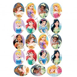 Valgomo popieriaus Dekoracijos keksiukams Princesių nuotraukos iš animacinių filmų