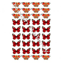 Cukrinio valgomo popieriaus Dekoracijos keksiukams Raudoni drugeliai