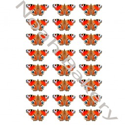 Wafer paper red shades24 butterflies