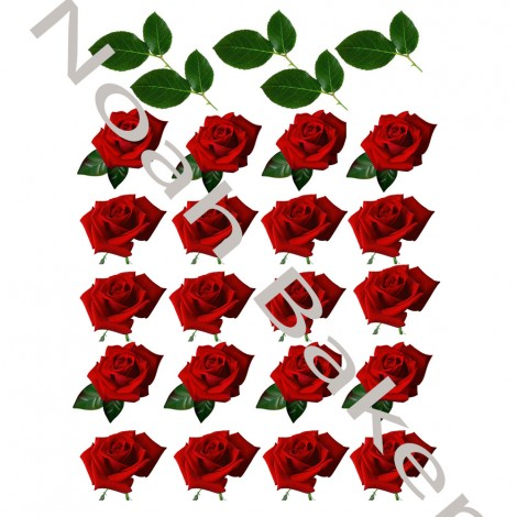 Wafer paper decorations - Wafer paper roses pictures
