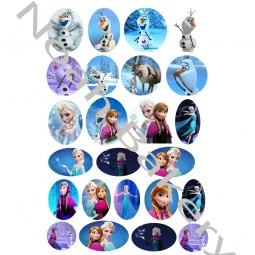 Princesės iš animacinio filmo FrozenCukrinio valgomo popieriaus Dekoracijos keksiukams