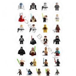 Cukrinio valgomo popieriaus Dekoracijos keksiukams Lego Žvaigždžių karai