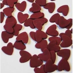 Burgundy colour hearts