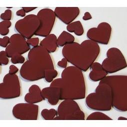 Burgundy colour multisize hearts