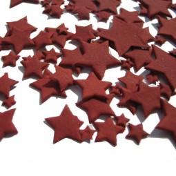 Bordo spalvos skirtingo dydžio žvaigždės
